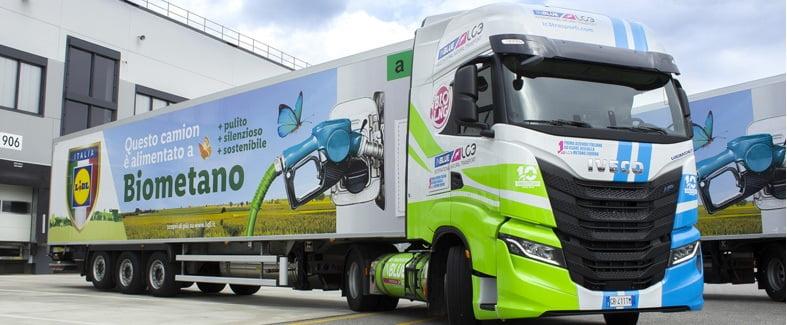 Lidl Italia amplía su flota con 35 vehículos Iveco S-Way a bio-GNL
