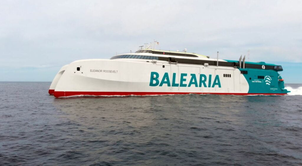 Baleària starts operating the most innovative and sustainable fast ferry in the Mediterranean