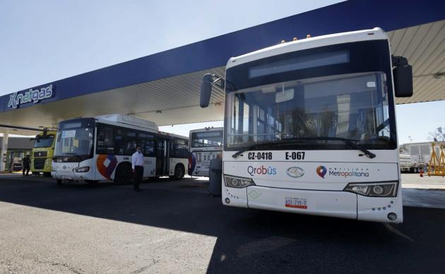 Más del 50% de unidades Qrobús utilizan gas natural en Querétaro
